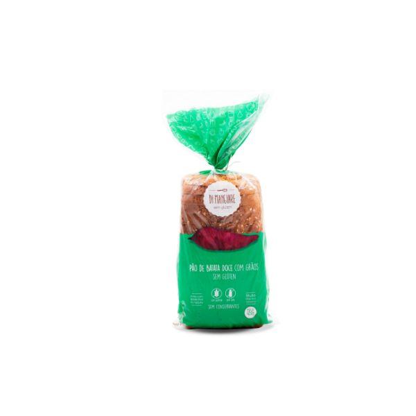 Pão De Batata Doce Com grãos Sem Glúten E Sem Lactose 450gr - Di Mangiare
