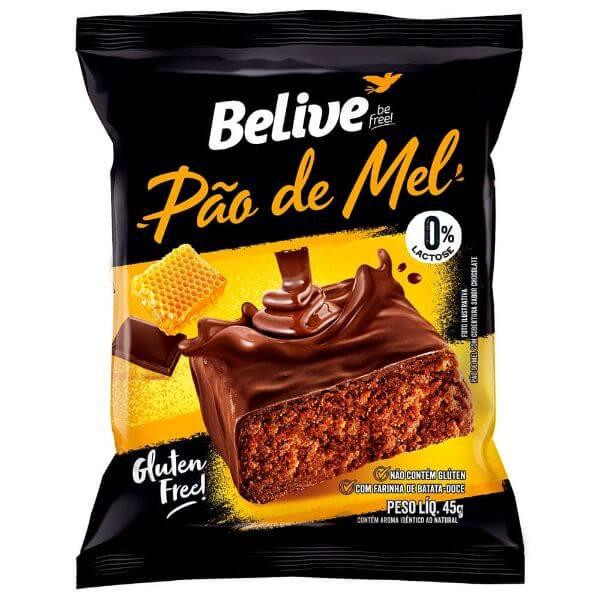 Pão de Mel Com Chocolate Sem Glúten e Sem Lactose 45gr - Belive
