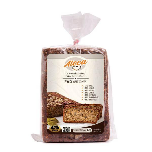 Pão Low Carb Sabor Natural Azeitonas 450gr - Aleca