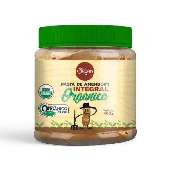 Pasta de Amendoim Organico Integral 400g - Organ