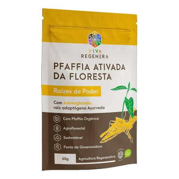 PFAFFIA ATIVADA DA FLORESTA RAIZES DE PODER VIVA REGENERA 60 G