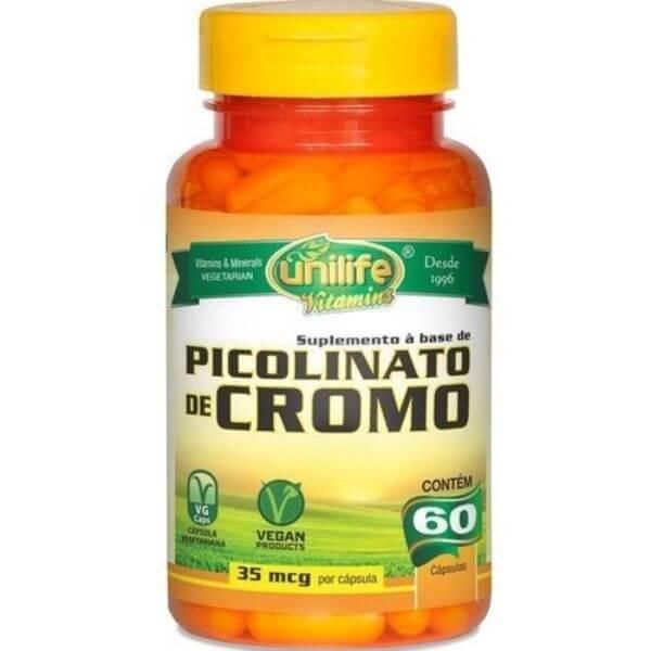 Picolinato de Cromo 550mg 60 Cápsulas - Unilife