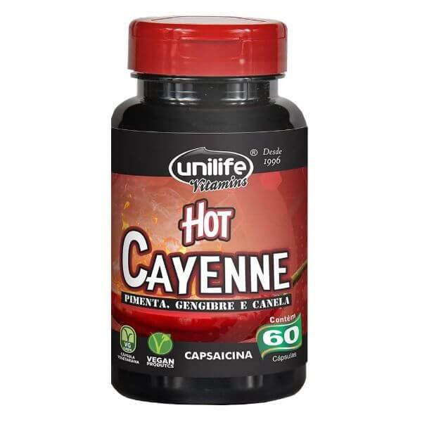Pimenta Hot Cayena 500mg 60 Cápsulas - Unilife