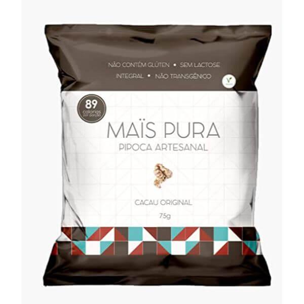 Pipoca Artesanal Sabor Cacau Original 75gr - Mais Pura