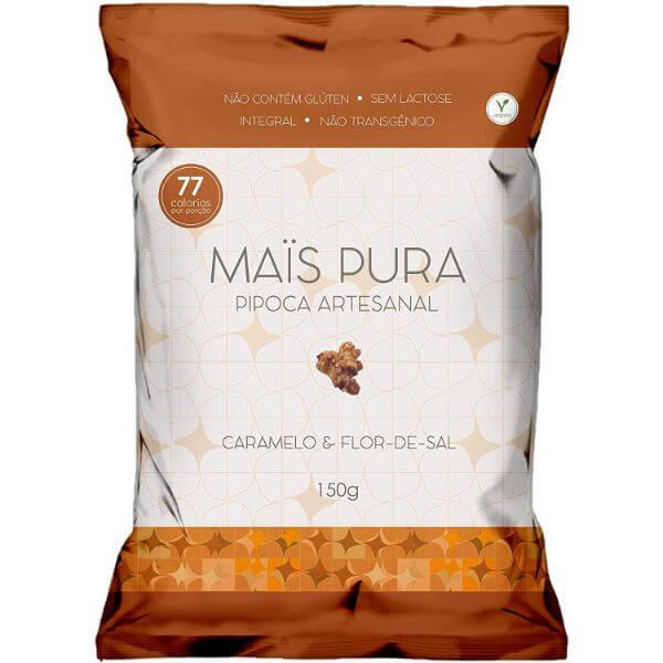 Pipoca Artesanal Sabor Caramelo E Flor De Sal 150gr - Mais Pura