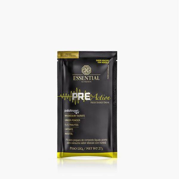 Pré Action Energy Drink sabor Abacaxi com Hortelã sachê 27gr - Essential Nutrition