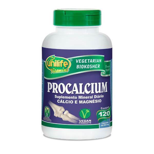 ProCalcio - Cálcio e Magnésio 950mg 60 Cápsulas - Unilife