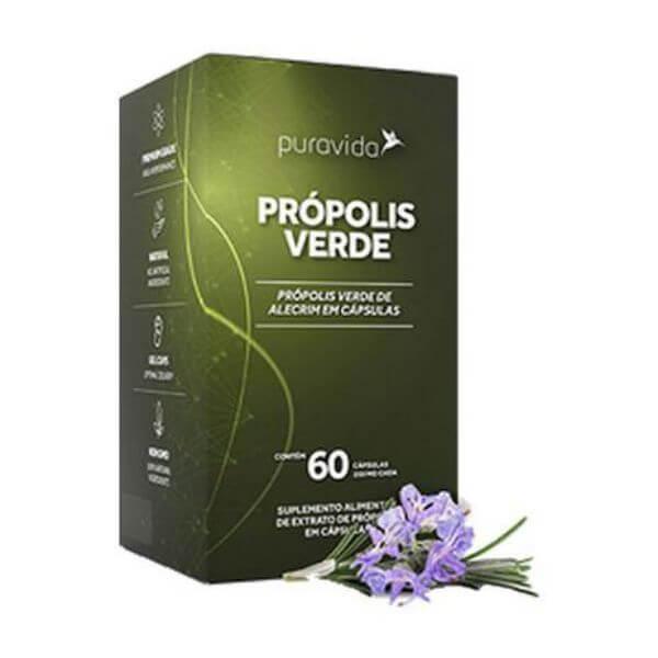 Propolis Verde 60 Capsulas De 250mg - Pura Vida