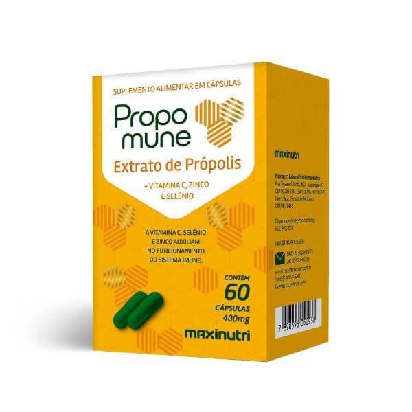 Propomune Ext De Propolis + Vit Comzinco/Selenio 60 Cápsulas - Maxinutri