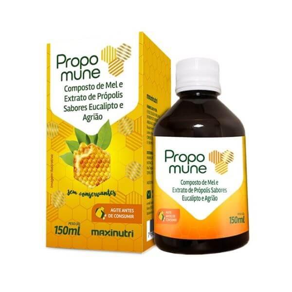 Propomune Xarope Mel,Propolis, Eucalipto E Agrião 150ml - Maxinutri