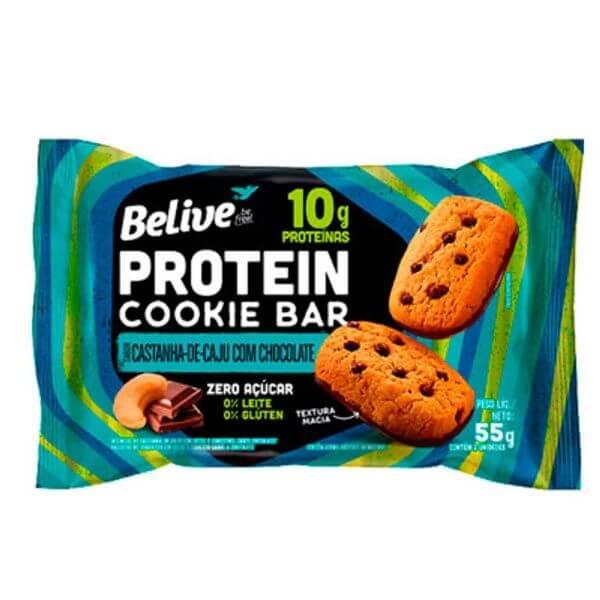 Protein Cookie Bar Belive Cast. De Caju Com Chocolate - Belive