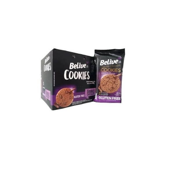 PROTEIN COOKIE BAR BELIVE DOUBLE CHOC. S/ ACUCAR 48G DP C/10