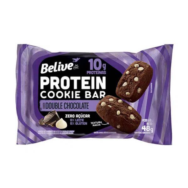 Protein Cookie Bar Double Chocolate Sem Açúcar - Belive