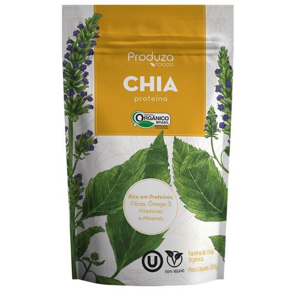 Proteina de Chia Orgânica 200gr - Produza Foods