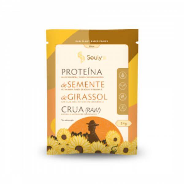 Proteina de Semente de Girassol Crua Sache de 34g - Souly