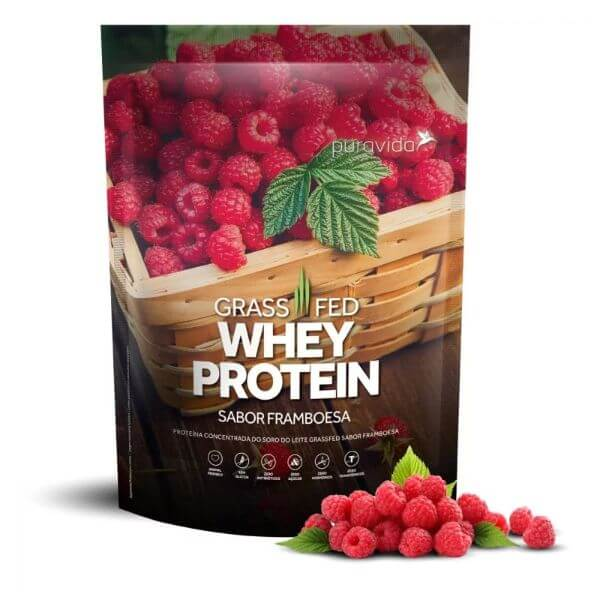Proteína Grassfed Framboesa Pack 450gr - Pura Vida