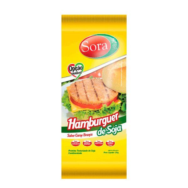 Proteína Texturizada De Carne Branca Para Hamburgue 125gr - Sora