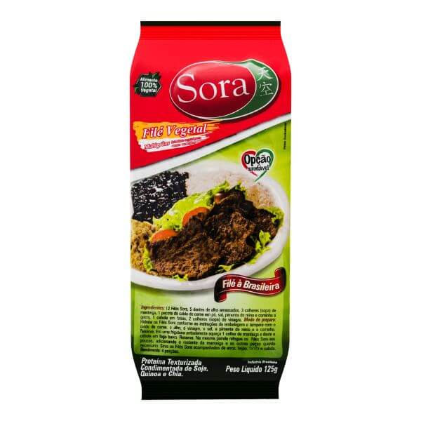 Proteína Texturizada De Carne Vermelha File  125gr - Sora