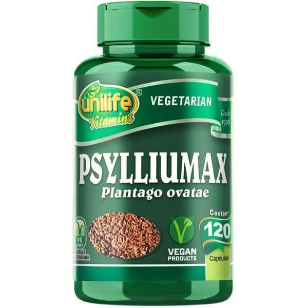 Psyllium Max 120 Capsulas de 550mg - Unilife