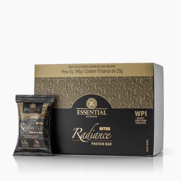 Radiance BITES Whey Chocolate Display 15 Barras Essential