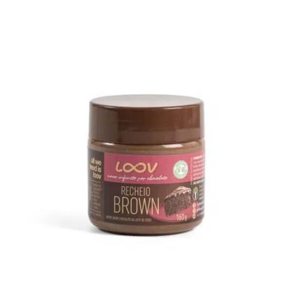 Recheio Brown sabor Chocolate ao Leite de Coco 160g - Loov Chocolife