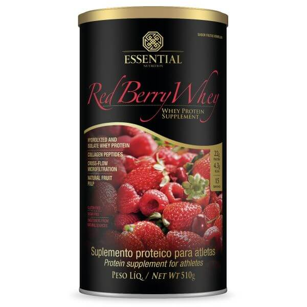Red Berry Whey Lata 510gr - Essential Nutrition