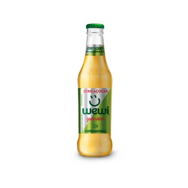 Refrigerante Orgânico Guarana All Natural Zero Açúcar 255ml - Wewi