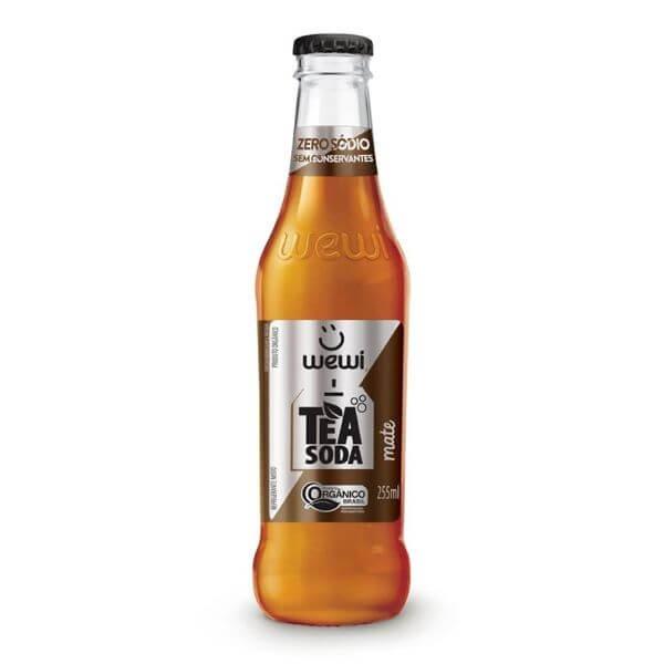 Refrigerante Orgânico Tea Soda Mate Sem Conservante 255ml - Wewi