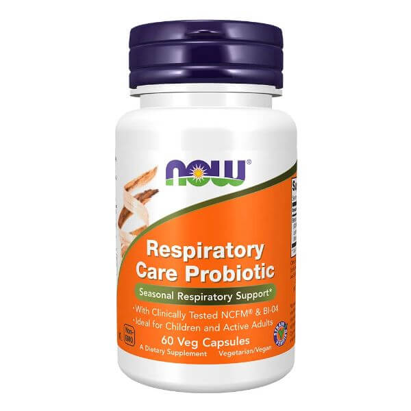 Respiratory Care Probiotic 60 Cápsulas - Now Sports