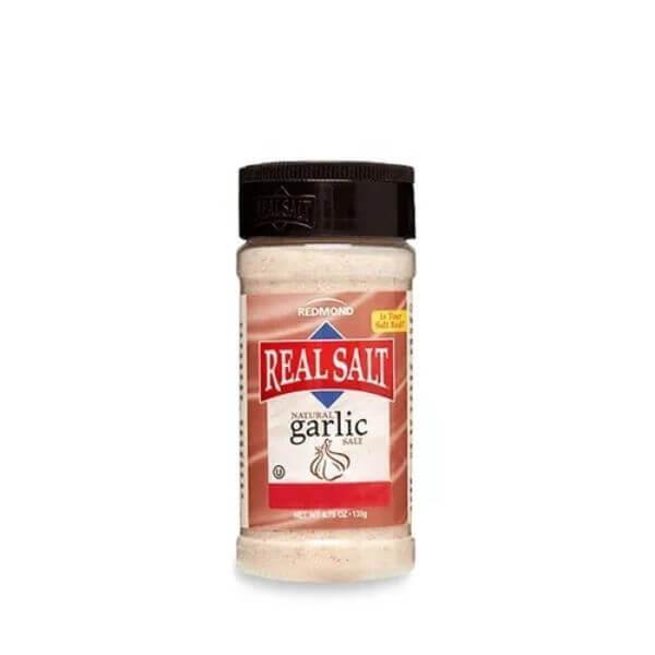 Sal Integral Fino Alho Fresco Frasco 135g - Real Salt