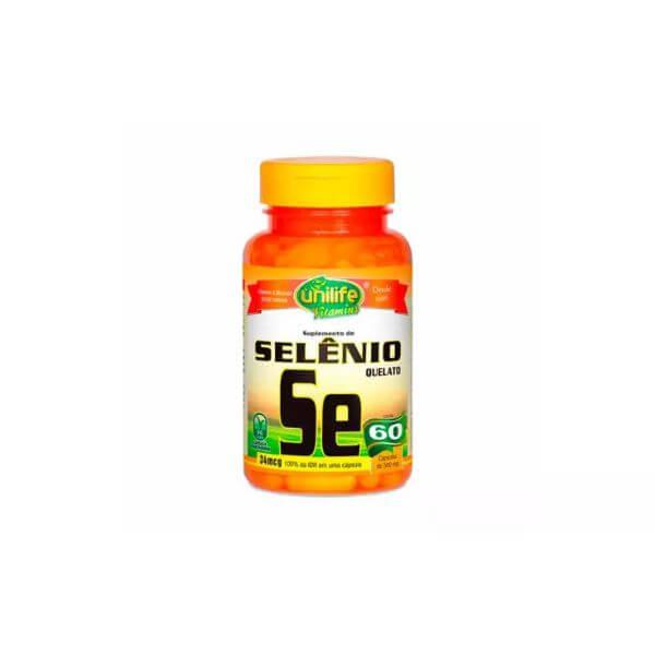Selenio Quelato 60 Capsulas de 500mg - Unilife