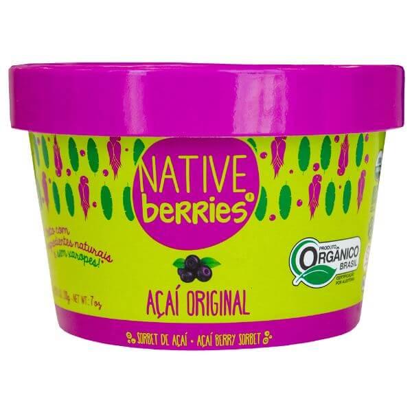 Sorbet Açai Original Organico 200g - Native Berries