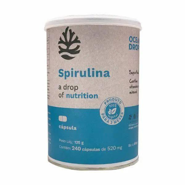 Spirulina 240 Capsulas - Ocean Drop