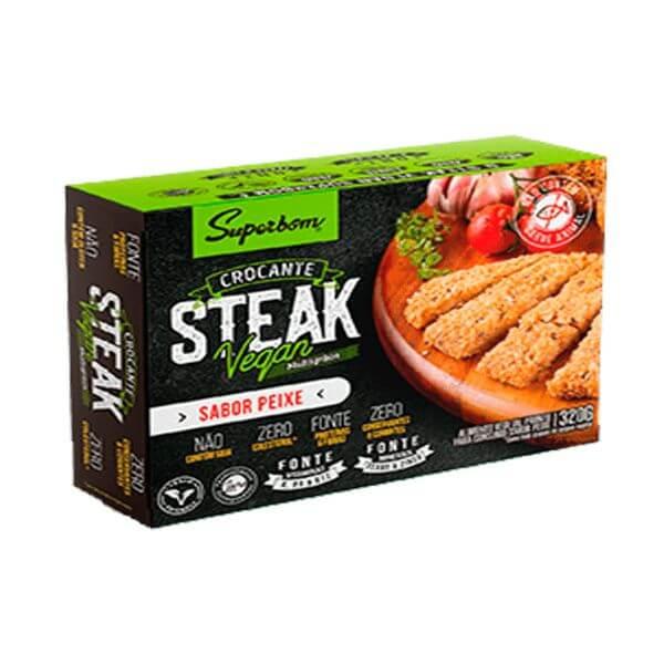 Steak sabor Peixe Vagano 320gr - SuperBom