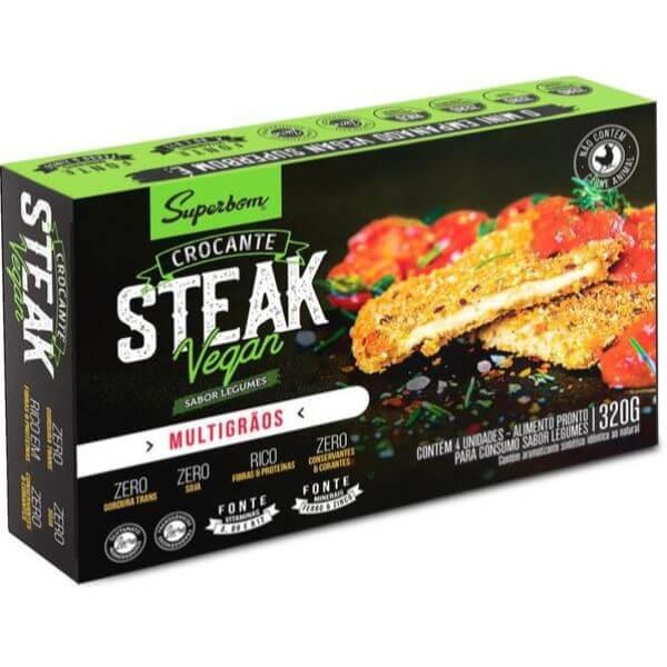 Steak Vegan Sabor Legumes 300gr - SuperBom