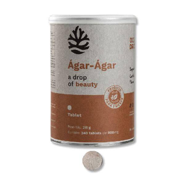 Super Agar-agar  240 Tabletes - Ocean Drop - Prod P/ 2 Meses