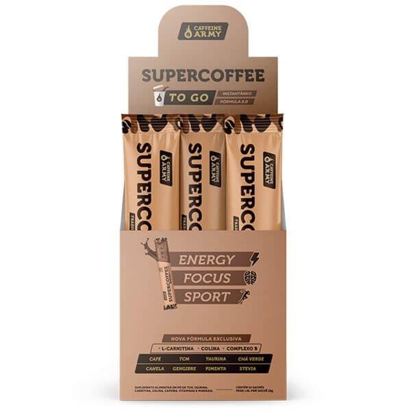 Super Coffe To Go Caixa com 14 Sachês de 10gr - Caffeine Army