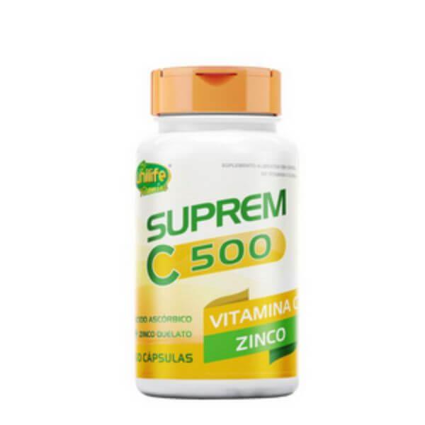 Suprem C500 Vitamina C + Zinco 60 Capsulas de 750mg - Unilife