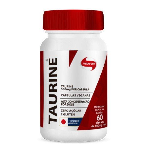 Taurine 30 Cápsulas De 500mg - Vitafor