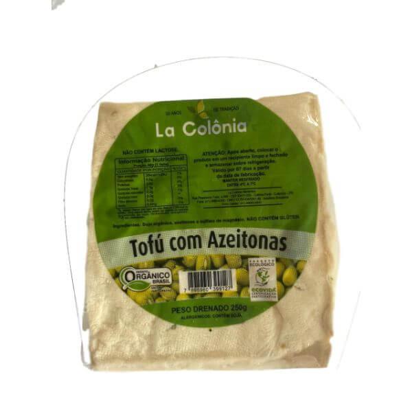 Tofu Orgânico Azeitonas 250G - La Colônia