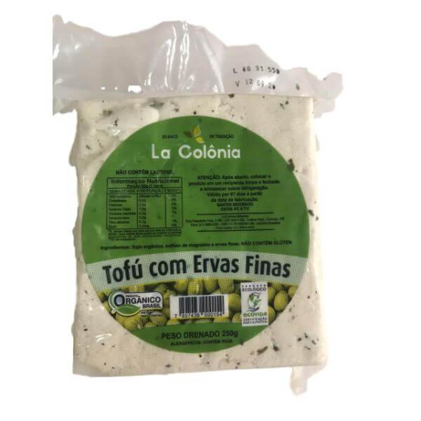 Tofu Orgânico Ervas Finas 250gr - Da Colônia