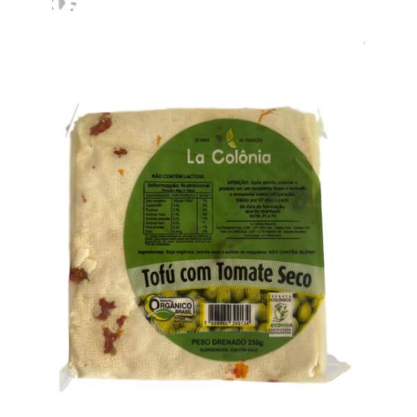 Tofu Orgânico Tomate Seco 250gr - Da Colônia