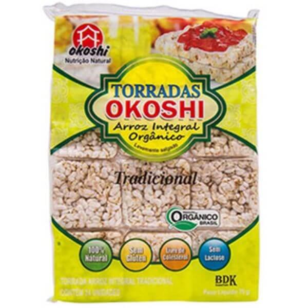 Torrada de Arroz Integral Orgânico Tradicional 75gr - Okoshi