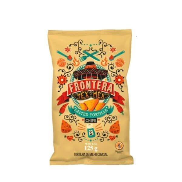 Tortilla Chips Natural Sem Glúten Tex-Mex 125G - Frontera