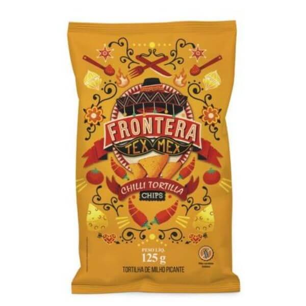 Tortilla Chips Picante s/ Gluten Tex-Mex 125g Frontera