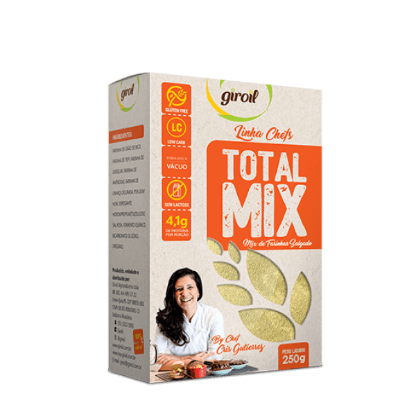 Total Mix - Mix De Farinhas Salgado (Laranjado) 250gr - Giroil