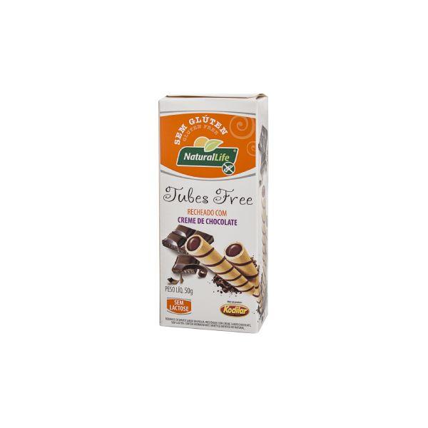 Tubes Free Chocolate Sem Glúten 50gr - Natural Life