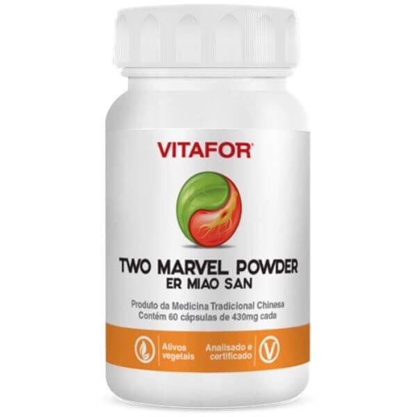 Two Marvel Powder  (Er Miao) 60 Cáps De 430mg - Vitafor Mtc