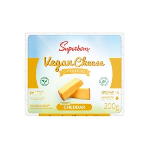 Vegan Cheese Cheddar 200gr - SuperBom