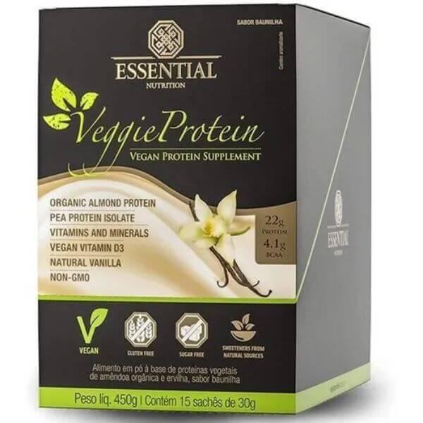 Veggie Vanilla Display 15 Sachês de 30gr - Essential Nutritional